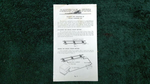AMERICAN FLYER M3418 AUTOMATIC ACTION CAR OPERATING INSTRUCTION PHOTOCOPY $5.00