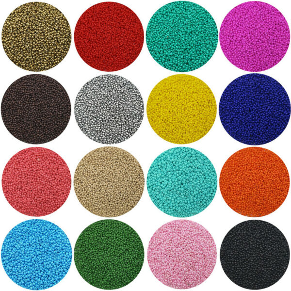 Lot of 2500pcs Economical 11 0 Rocaille 1.8mm Small Round Glass Loose Beads DIY $1.99