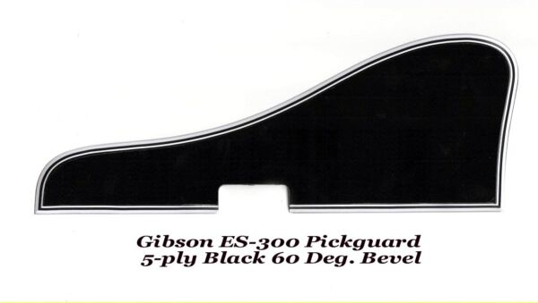 ES-300 Pickguard 5-Black with Bracket & Mounts for 1950-52 Gibson Project NEW