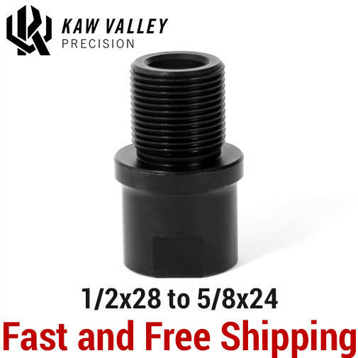Kaw Valley Precision 12x28 to 58x24 Barrel Muzzle Thread AdapterConverter