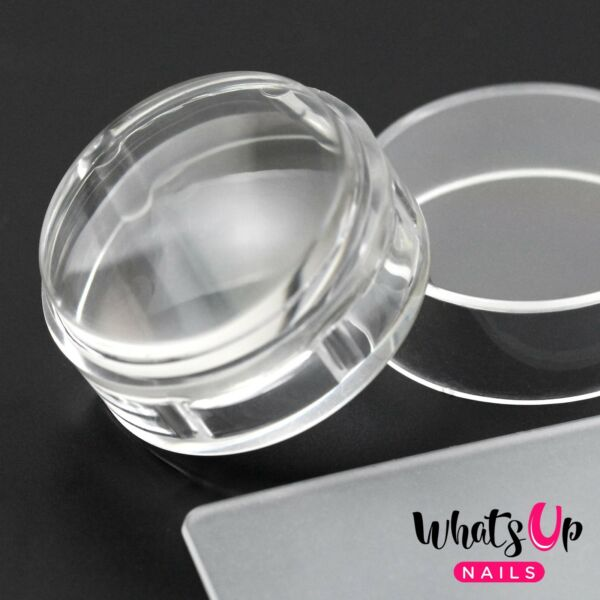 Magnified Clear Stamper & Scraper For Stamped Nail Art