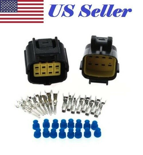 8 Pin Way Waterproof Wire Connector Plug Auto Sealed Electrical Set Car Truck