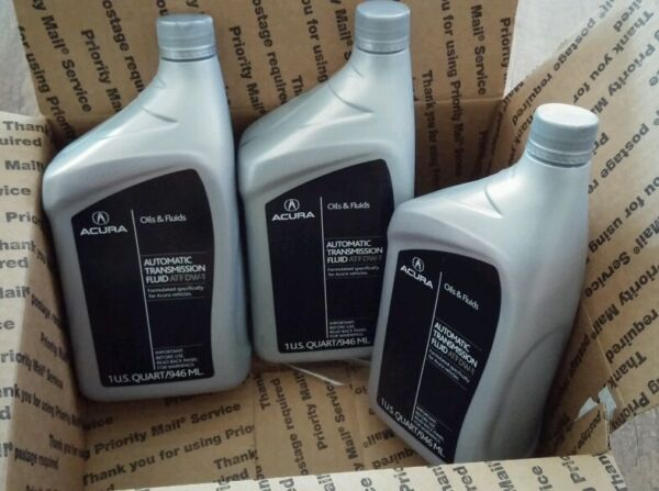 3 QUARTS with Crush Washer DW-1 Honda Acura Automatic Transmission Fluid