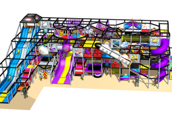 7000 sqft Commercial Indoor Playground Themed Interactive Soft Play We Finance