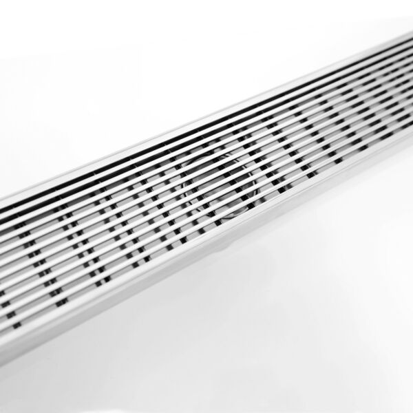 Linear Shower Bathroom Floor Drain Wedge Wire Grate Brush Stainless Steel New