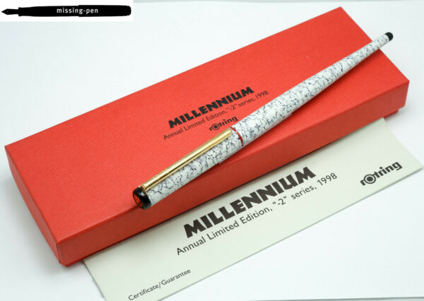 Rotring Art Pen Millennium Edition 1998 with bi color nib 1.5 mm with Box