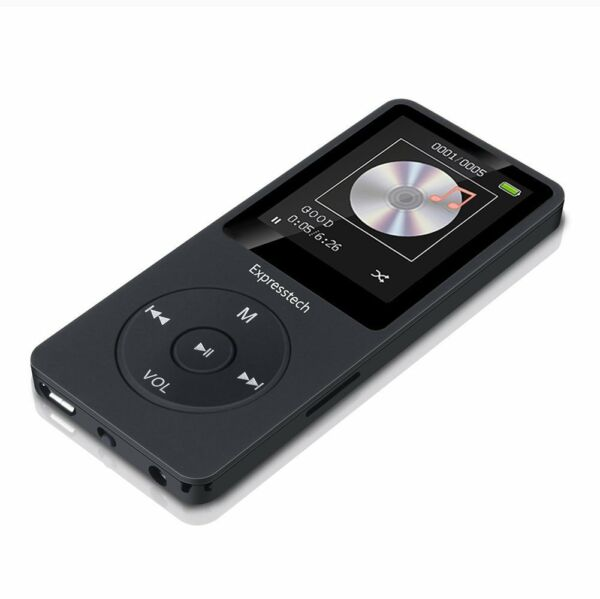16GB MP3 Player Tragbare MP3 Musik Player mit FM Radio Funktion, Farbe Schwarz