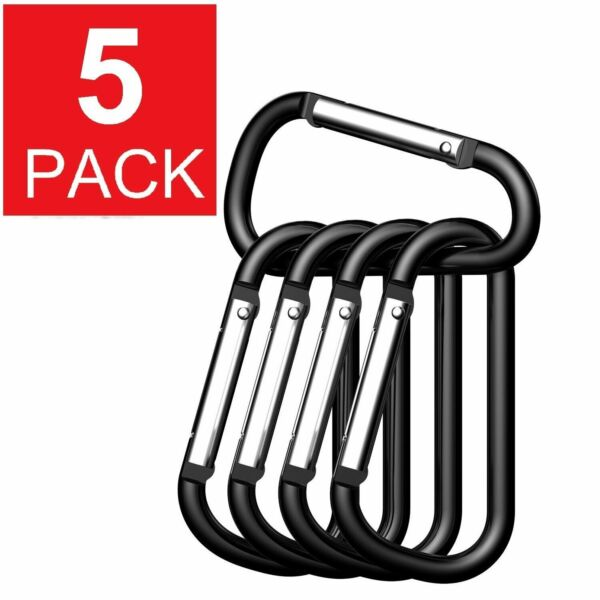 5x Ideal Aluminum Carabiner D Ring Key Chain Keychain Clip Hook Outdoor Buckle $4.45