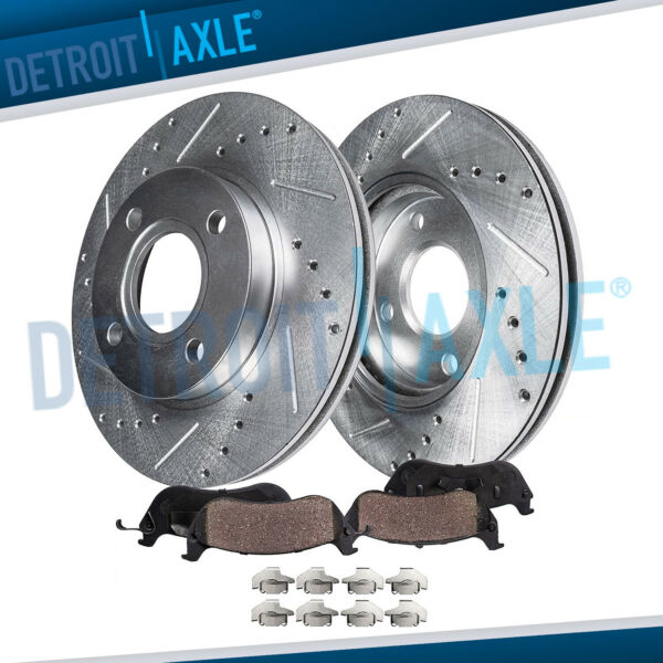 Front Drilled Brake Rotors & Ceramic Pads 1996 - 2002 2003 2004 2005 Honda Civic
