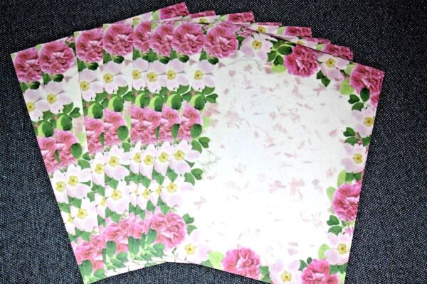 25 Sheets Computer Stationary Cotillion Flowers by Geographics Geopaper $2.50