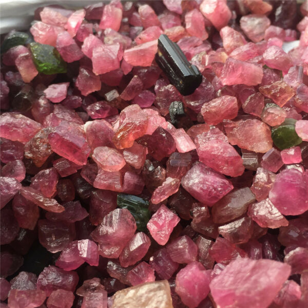 1 Kg Small Size Rough Red+ Pink + Green tourmaline Mozambique Wholesale