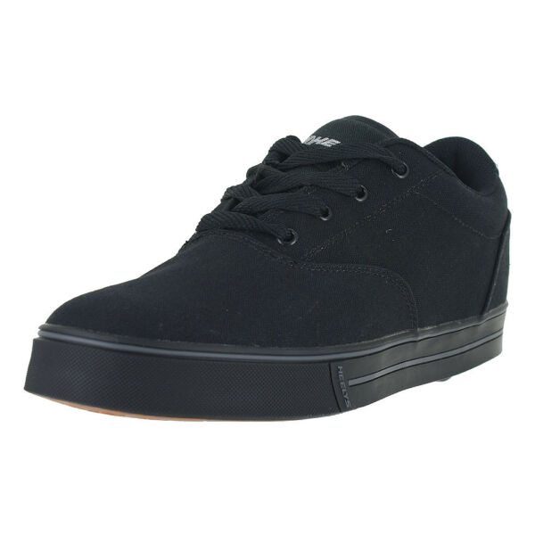 HEELYS MENS LAUNCH BLACK CANVAS 770155M BLK MENS US SIZES