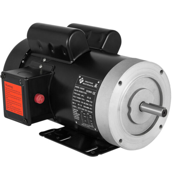 2HP Electric Motor 5 8quot; Shaft General Purpose 1 Phase 115 230V 56C 1800RPM