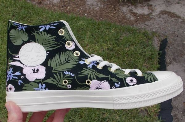 Converse All Star Black Cherry Blossom  / EGRET 70 Sneakers 160518c size 10.5