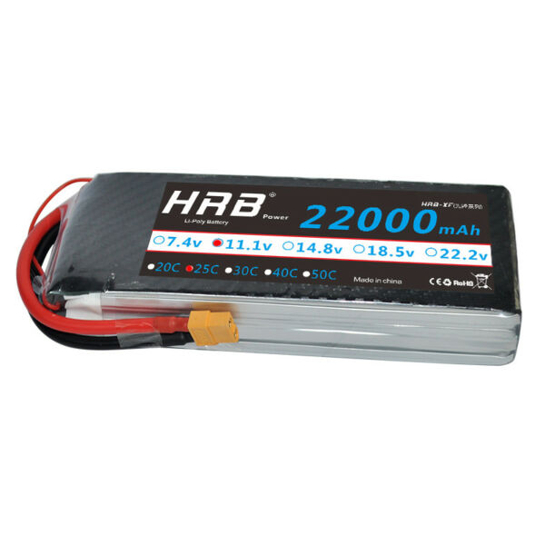 HRB 22000mAh 11.1V 3S RC LiPo Battery 25C 50C for DJI Drone Airplane Helicopter