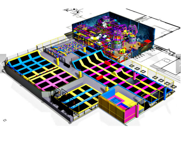 20500 sqft Commercial Trampoline Park Ninja Climb Inflatable We Finance to 100%
