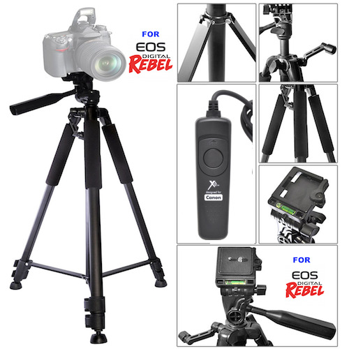 60quot; PROFESSIONAL TITANIUM ALLOY TRIPOD WIRED REMOTE FOR CANON EOS M3 M5 M50