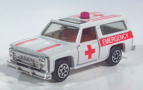 Vintage 1981 Kidco Chevrolet Blazer K5 Emergency Red Cross Truck 1973-1980