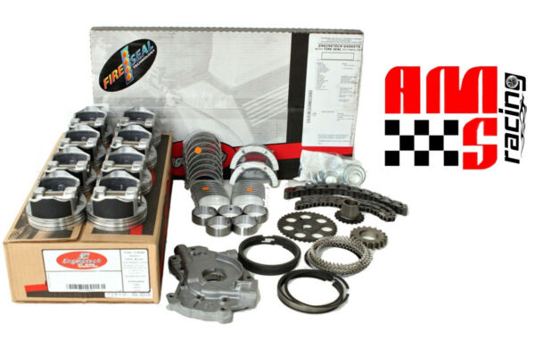 Engine Rebuild Overhaul Kit w Flat Top Pistons for 2005 2006 Chevrolet 6.0L LS2
