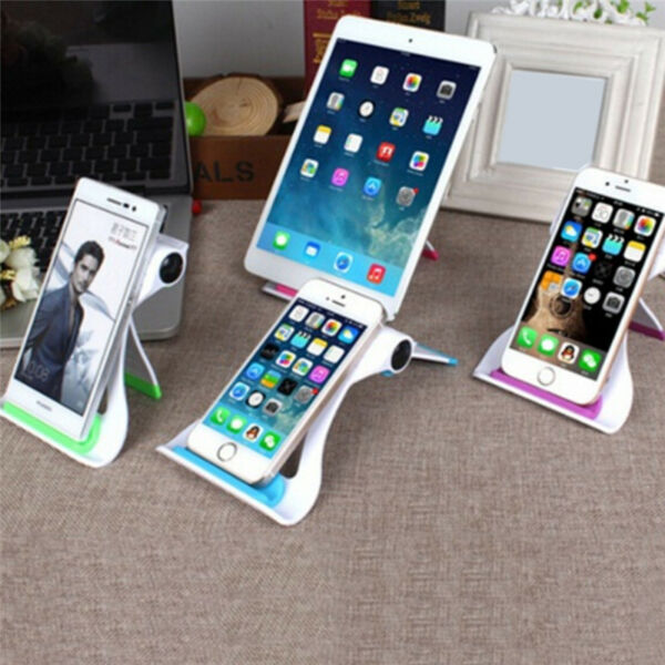 Portable Creative Foldable Desktop Stand Mount Holder For Cell Phone Tablet LY
