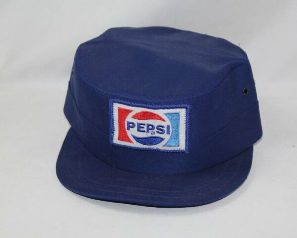 Vintage 1970s80s Pepsi Cola Delivery Driver Hat NOS Rounded Style -Size 7 - USA