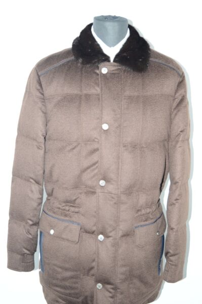 NEW 1165000 $ STEFANO RICCI  Outwear Top Over Coat Cashmere Us S Eu 48 (G30)
