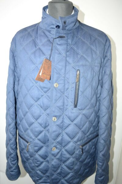 NEW 1050000 $ STEFANO RICCI Outwear Quilted Coat  Us M Eu 50 G105