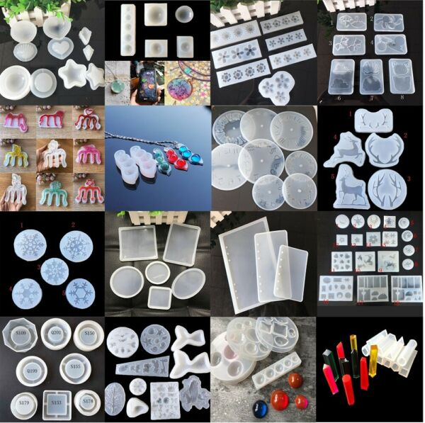 Silicone Resin Mold for DIY Jewelry Pendant Making Tool Mould Handmade Craft $1.89