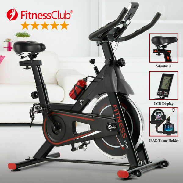 Indoor Stationary Exercise Bike Fitness Cycling Bicycle Automatic Sensor Movable $189.99