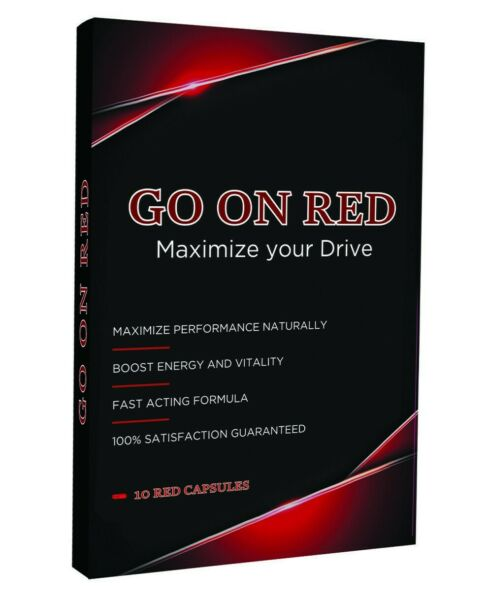 Go On Red Natural Male Enhancement Performance Stamina booster 10 Red Pills