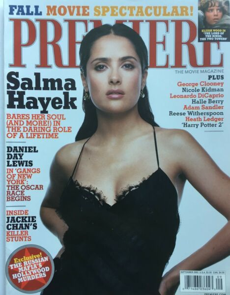SALMA HAYEK Sept. 2002 PREMIERE Magazine  DANIEL DAY LEWIS  ELIJAH WOOD  NEW