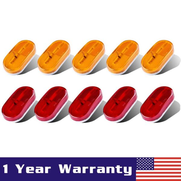 5Amber + 5Red 6 LED Side Marker Light Truck Trailer Clearance Led Lamp Assembly