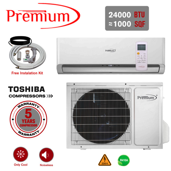24000 BTU Air Conditioner Mini Split AC Ductless ONLY COLD 220V $849.99