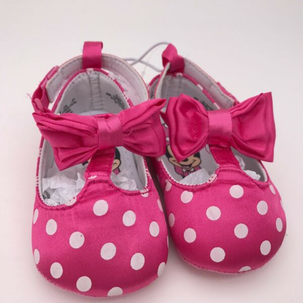 Disney Store Minnie Mouse Baby Costume Shoes Dress Up Polka Dot RETIRED New