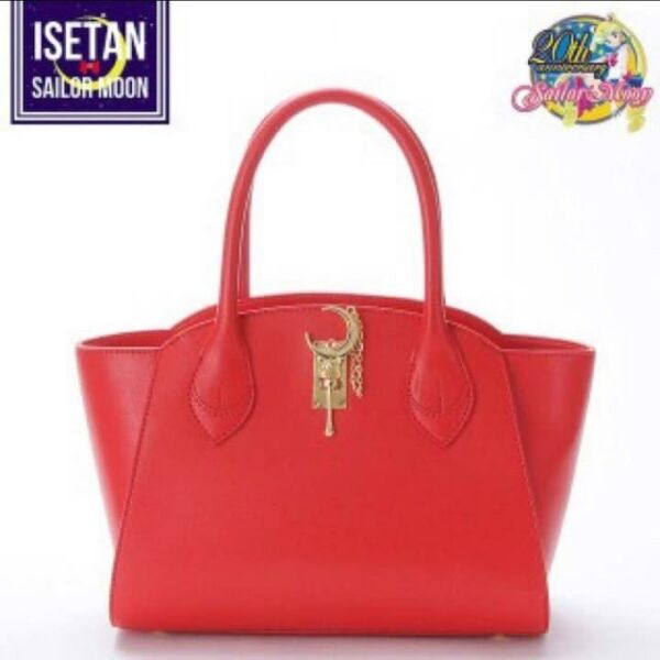 Sailor Moon x Samantha Vega Moon Stick Red Leather Bag Large Japan New FS
