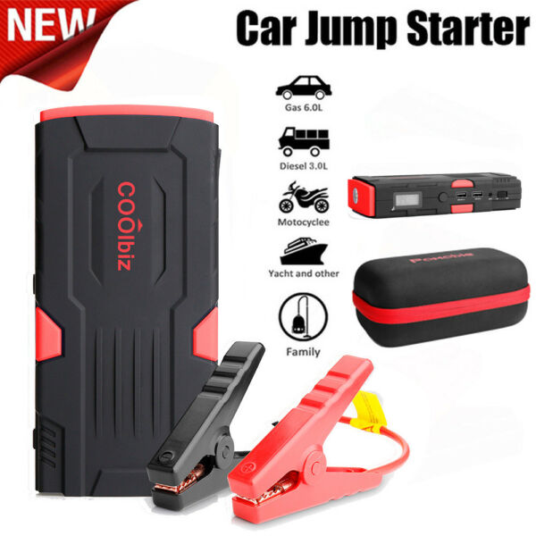 600 Peak Amp Portable Charger Auto Car Battery Booster Jump Starter Jumper Pack