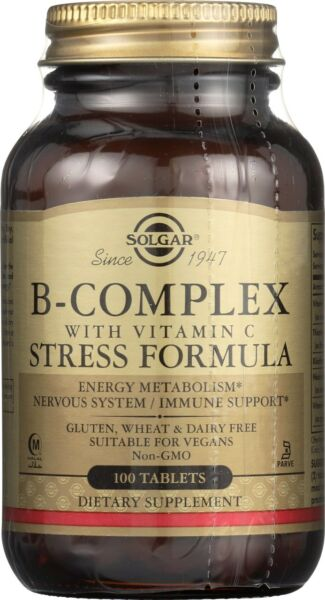 Solgar B Complex with Vitamin C Stress Formula* 100 Tablets
