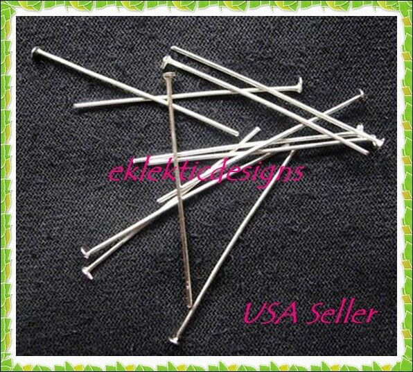 25pcs 40mm .7mm21gauge Surgical Stainless Steel Headpins Pins Jewelry Finding