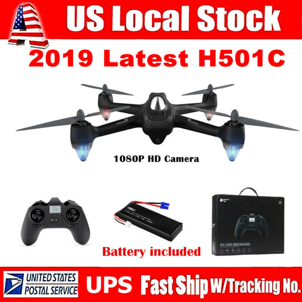 Hubsan X4 Brushless Drone H501C RC Quadcopter W/ 1080P HD Camera GPS RTF Mode 2