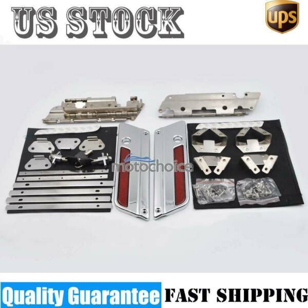 Saddle Bag Latch Lids Hardware Hinge Lock Kit Fit For Harley Touring Model 94-13
