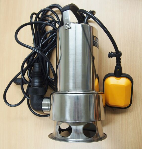 Submersible Water Pump Stainless Steel 1HP 13000 LH Trash Clean Water Flooding