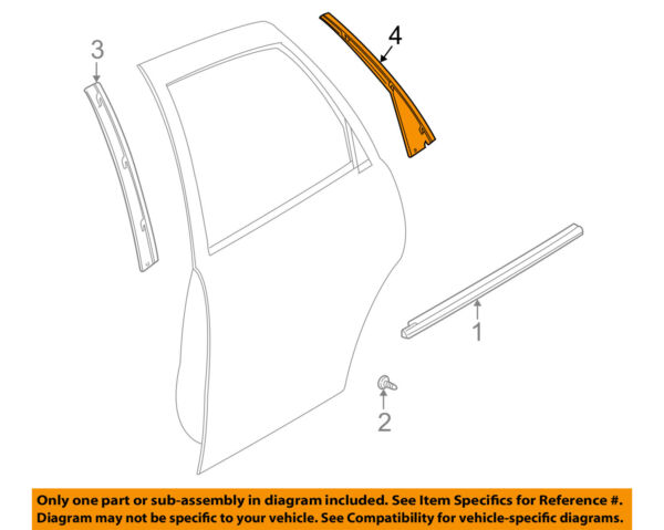 Saturn GM OEM 01-05 L300 Exterior-Rear-Applique Window Trim Right 22671223
