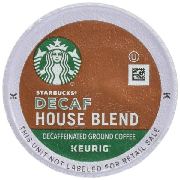 Starbucks Decaf House Blend Coffee K-Cups 48 Count