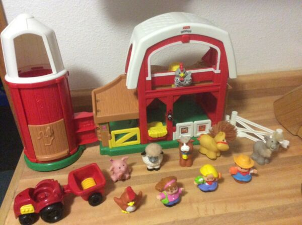 Fisher Price Little People Animal Sounds Farm 2005 Animals Farmer