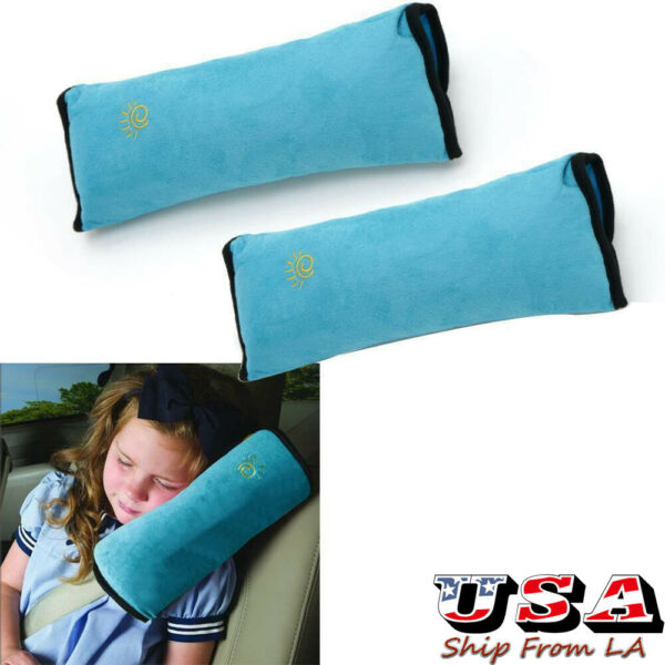 Kids Car Safety Strap Harness Pillow Shoulder Seat Belt Pad Cushion for Ford BMW