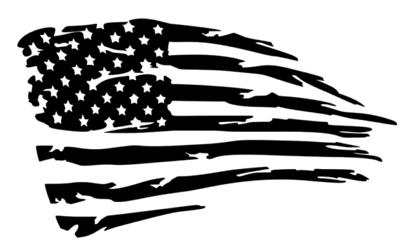 Distressed American Flag Decal, sticker, Vinyl, JDM Decal for Car, Truck, Jeep