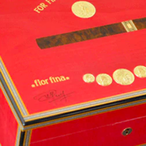 Cigar Humidor Elie Bleu Red Sycamore Holds up to 120 Medals Collection