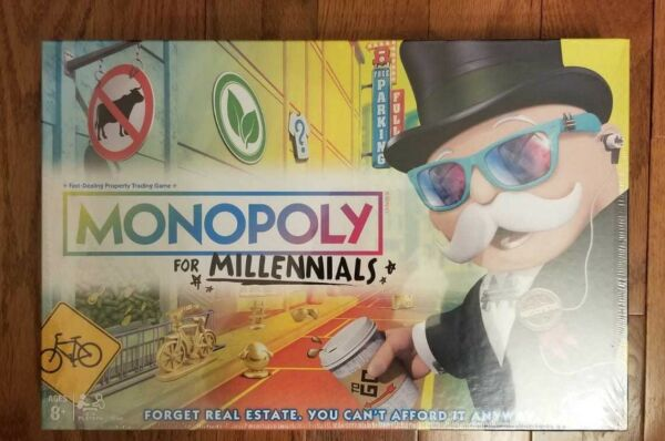 Monopoly for Millennials Millenials Millenial Edition Board Game SOLD OUT HOT