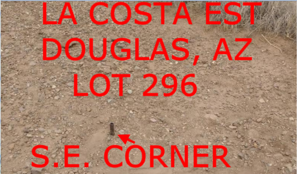 CASH SALE $150 +$395 DOC FEE -LA COSTA EST 296 DOUGLAS, AZ-BELIEVE IN LAND!!