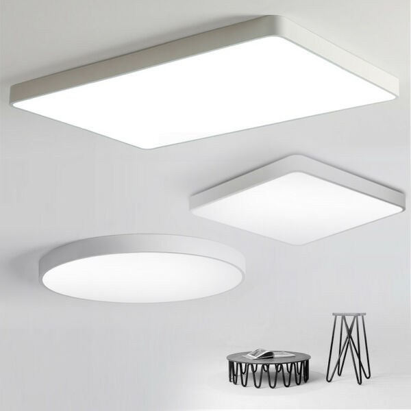 LED Ceiling Light Ultra Thin Dimmable Flush Mount Kitchen Lamp Home Fixture US
